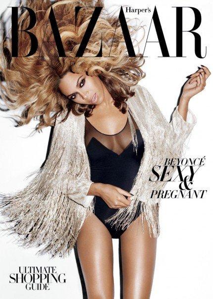 Mucho pelo y mucha miga en la portada de Beyoncé para Harpers Bazaar