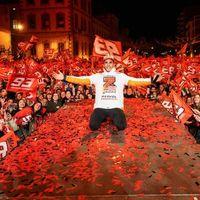 Marc Márquez, la celebración de su séptimo título en Cervera y la separación entre deporte y política