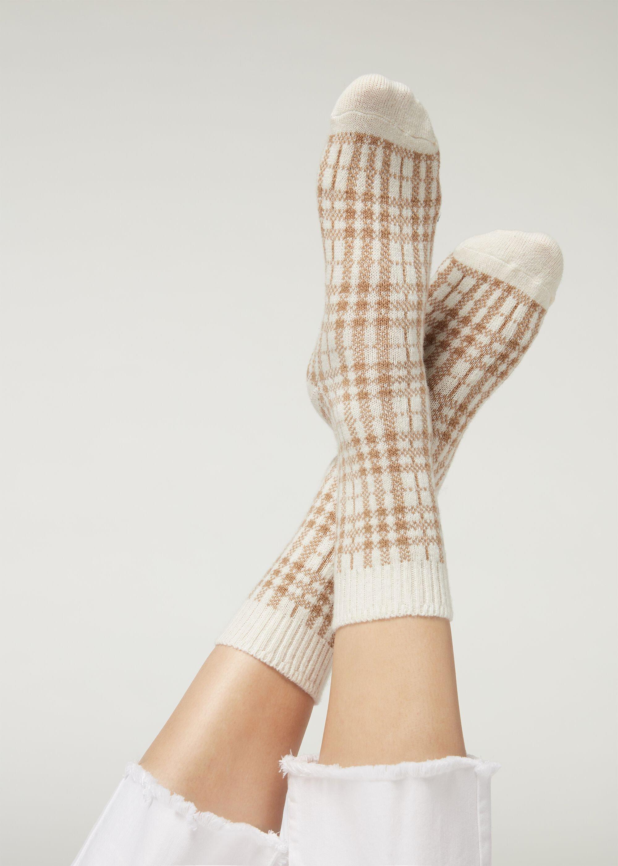 Calcetines cortos con cashmere estampados