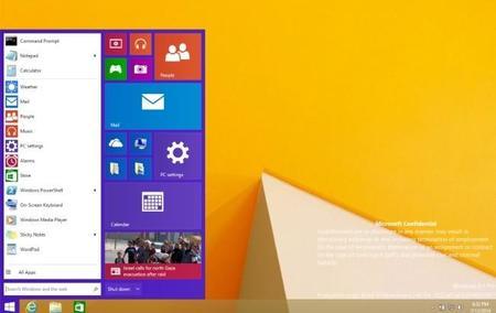 Se filtra una captura de pantalla del menú inicio en Windows 9