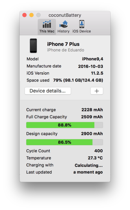 Cómo comprobar ciclos de carga iPhone