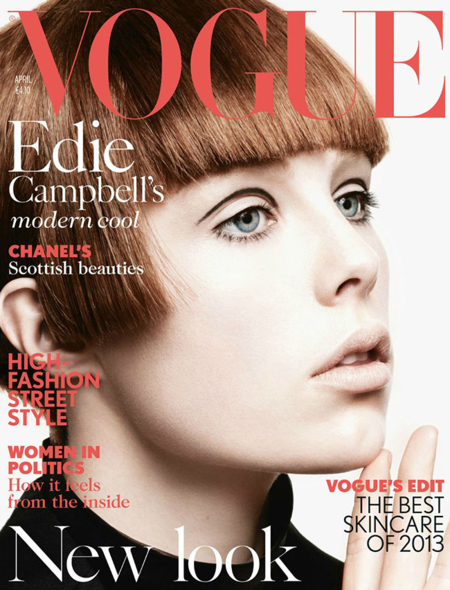 Edie Campbell Vogue Cover 2013