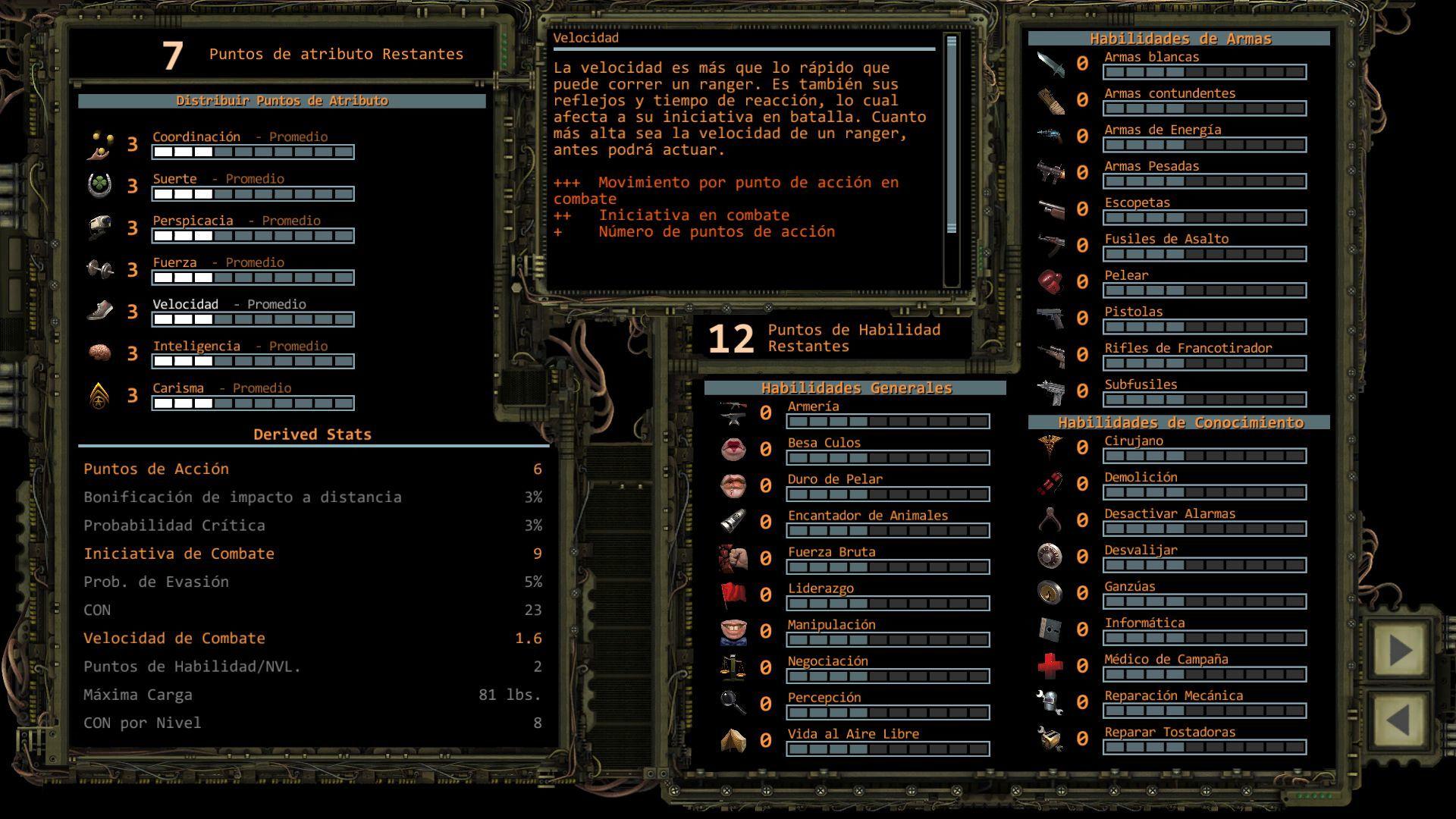 Foto de Distribución de puntos de Atributo en Wasteland 2 (7/11)