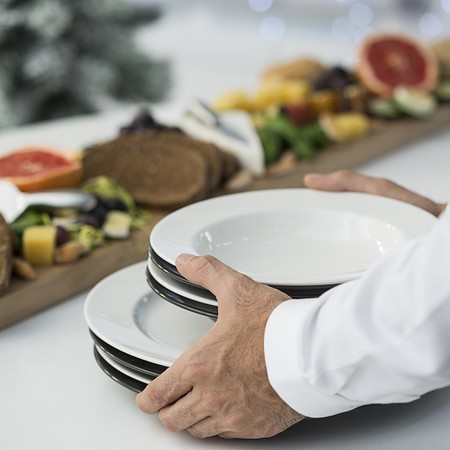 Decorar mesa buffet Navidad