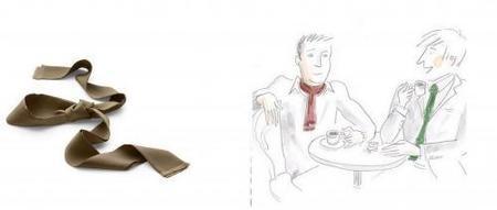 La corbata-foulard de Hermès