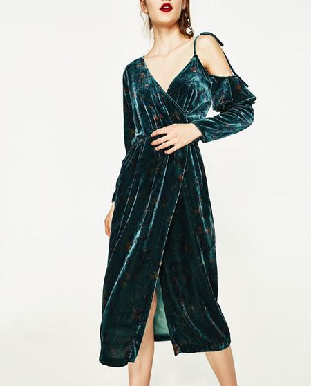 Vestido de terciopelo estrellado