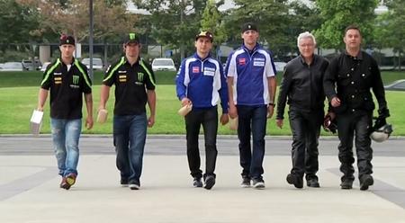 El equipo Yamaha vuelve al trabajo en USA