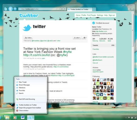 microsoft internet explorer 9 beta twitter