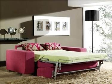 Sofá cama con guarda-almohadas