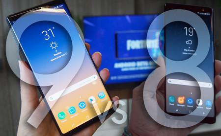 Samsung Galaxy Note 9 vs Galaxy Note 8: esto es todo lo que ha cambiado