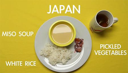 Desayuno típico en Japón