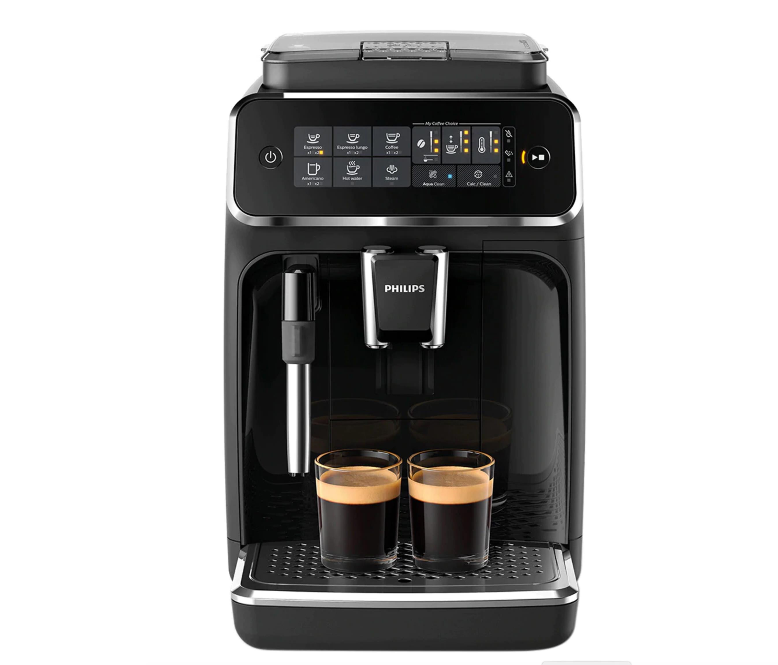 Cafetera espresso superautomática Philips serie 3200 con espumador de leche y programas para 4 tipos de café