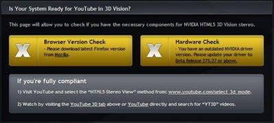 Vídeos 3D directamente en el navegador con Nvidia y Youtube