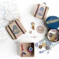 Mini maletas DIY para guardar los pequeños recuerdos de tus viajes