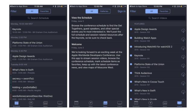 App oficial de la WWDC
