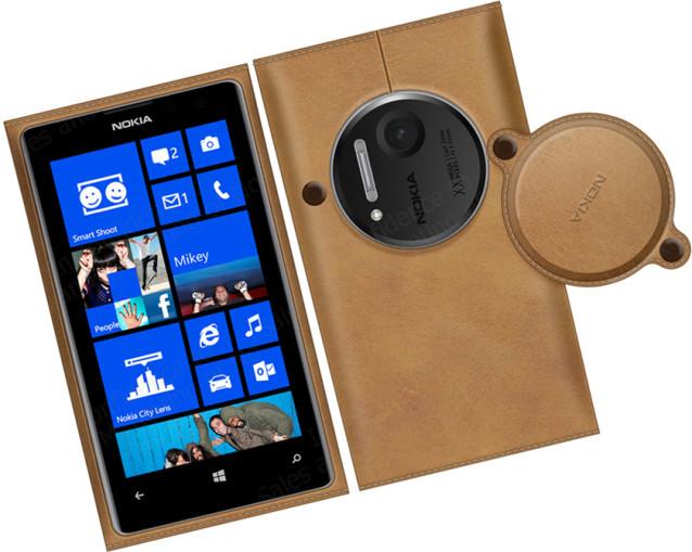Carcasa inalámbrica y funda de cuero para el Nokia Lumia 1020