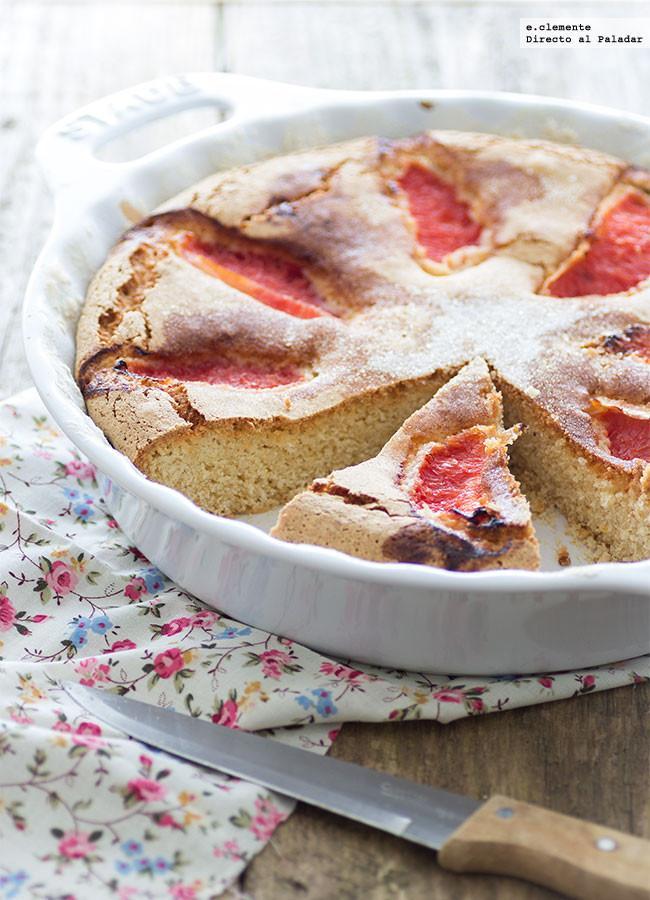 Bizcocho de pomelo y almendra receta for Bizcocho de yogur y almendra
