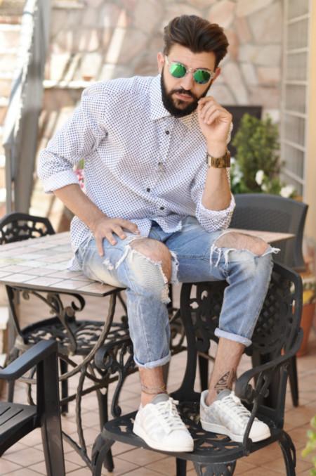 Tenis Blancos Verano 2015 Trendencias Hombre