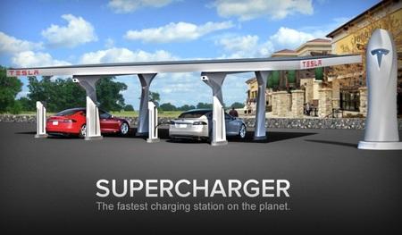 Tesla presenta su supercargador
