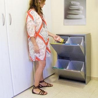mueble reciclaje basic abierto