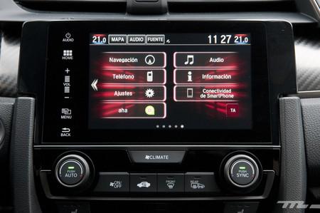 Honda Civic 2017, prueba contacto