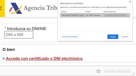 Selecciona Certificado