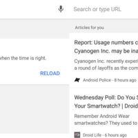 Google Chrome Dev 54 incluye artículos recomendados vía Google Now