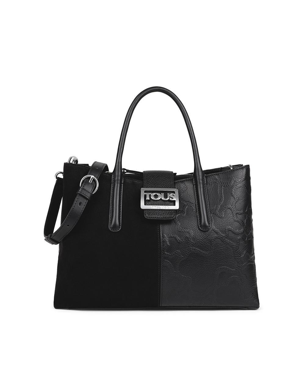 Bolso de mano Tous Icon de piel combinada en negro