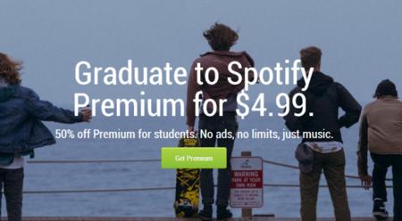 Spotify Premium hace un descuento del 50% si eres estudiante