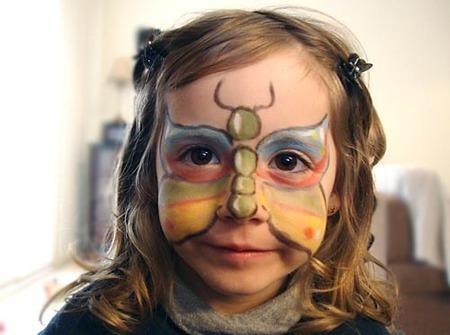 Maquillaje de cara de mariposa