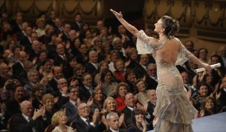 El polémico vestido de Yelena Isinbayeva en los Príncipe de Asturias III