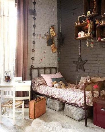 Dormitorios infantiles retro y vintage - Dormitorios vintage chic ...