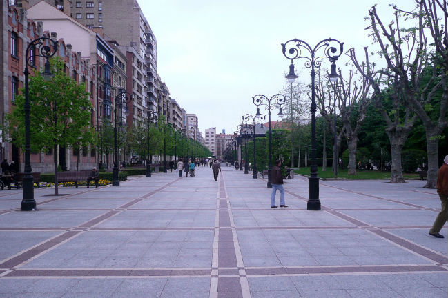 Paseo de Begoña en Gijón