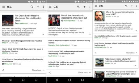 Noticias y clima de Google añade más fuentes de noticias locales