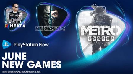 Metro Exodus, Dishonored 2 y Nascar Heat 4 son los juegos que se unen a PlayStation Now en junio