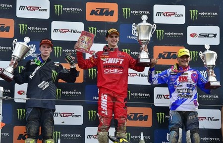 Podio Mx2 Holanda 2015