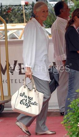 """Vanessa Redgrave y su no """"plastic bag"""""""