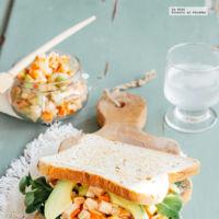 Sándwich de surimi y aguacate. Receta Rápida