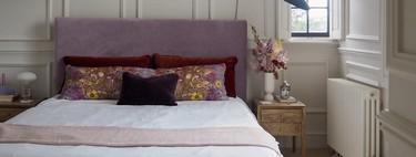 Antes y después: molduras y nuevo tapizado DIY para un dormitorio que cambia de estilo