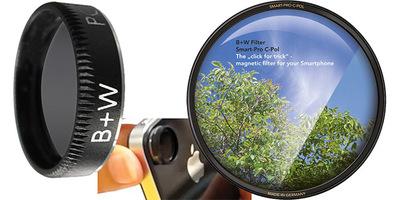 Filtro polarizador circular para smartphones