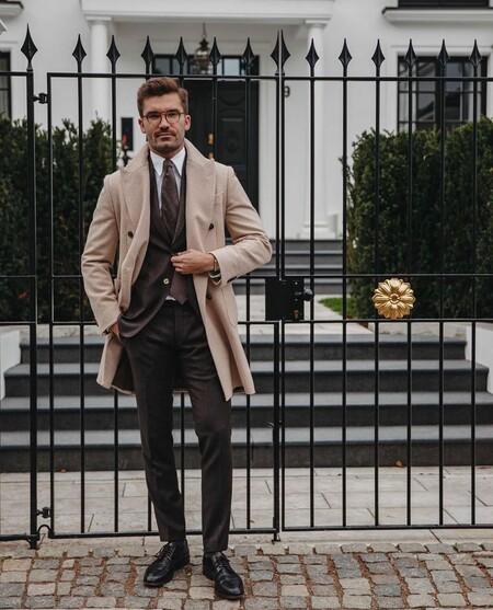 El Mejor Street Style De La Semana Brown Suit Trendencias Hombre 16
