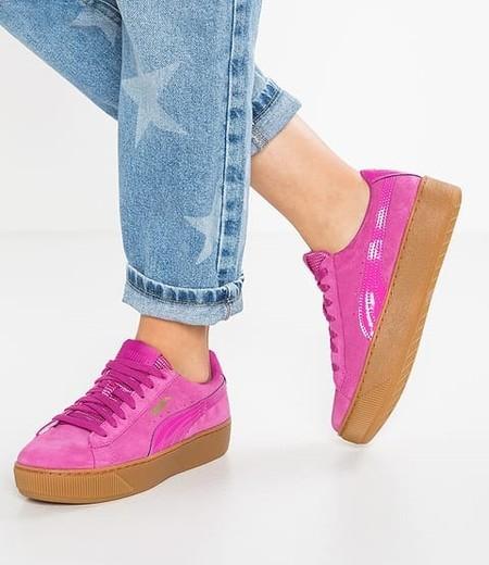 Las zapatillas Puma Vikki Platform han bajado en Zalando de  64,95 euros a 51,95 euros y con envío gratis