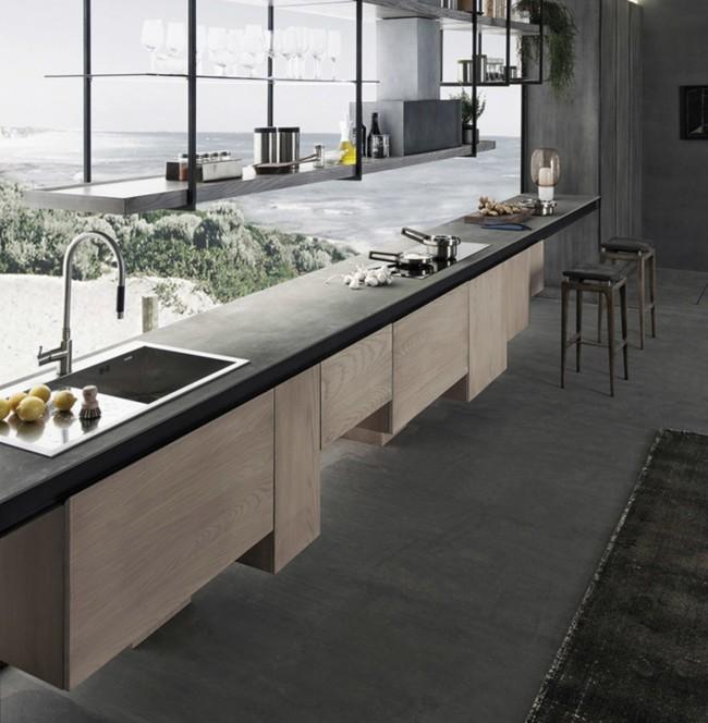 Cocinas modernas con encimera de cemento