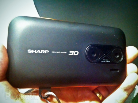 sharp camara 3d movil