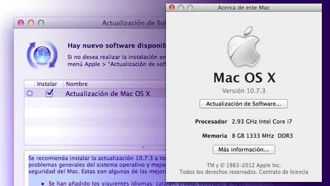 Mac OS X 10.7.3 Lion