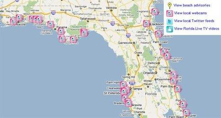 Sigue la mancha de petróleo en Florida por webcam