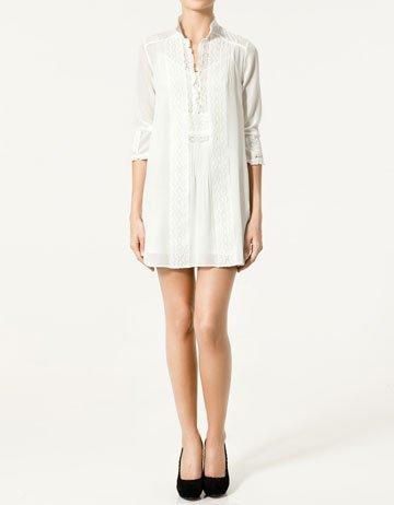 Rebajas 2011: Zara vestido blanco