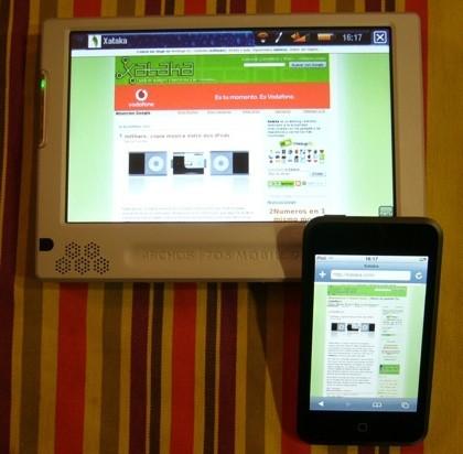 Velocidad de navegación: Archos 705 vs iPod touch