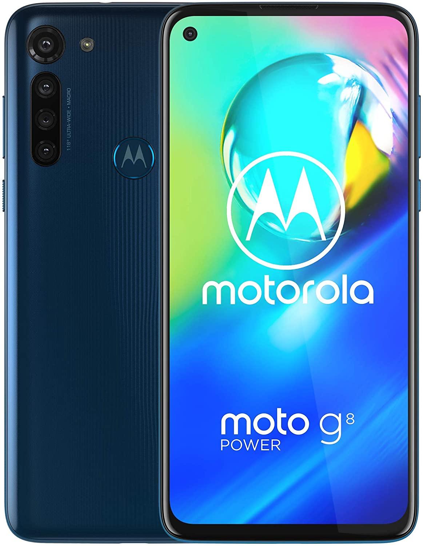 Moto G8 Power |  Desbloqueado |  Solo GSM International |  4 / 64GB |  Cámara de 16MP |  2020 |  Azul