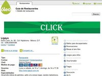 Guía Óleo, buscador de restaurantes en México DF